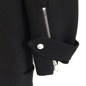 Zara Jackets & Coats - Zara coat double breasted zip up black EUC size M